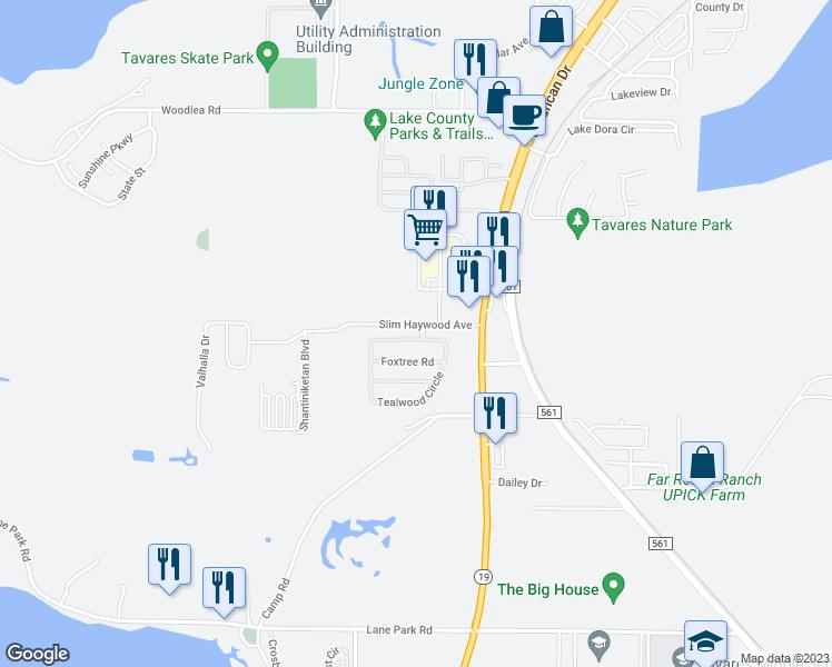 Map Tavares Florida.2417 Tealwood Circle Tavares Fl Walk Score