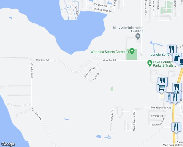 Map Tavares Florida.1501 Sunshine Pkwy Tavares Fl Walk Score