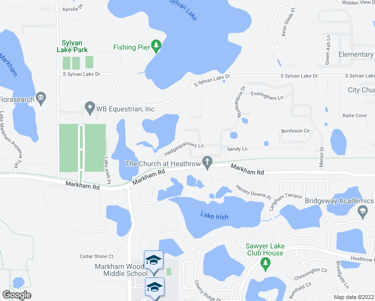 map of restaurants, bars, coffee shops, grocery stores, and more near 2517 Northumbria Drive in Sanford