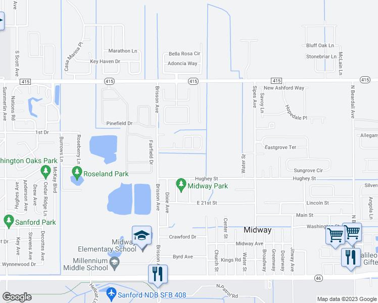 Sanford Florida Map.2477 Daffodil Terrace Sanford Fl Walk Score