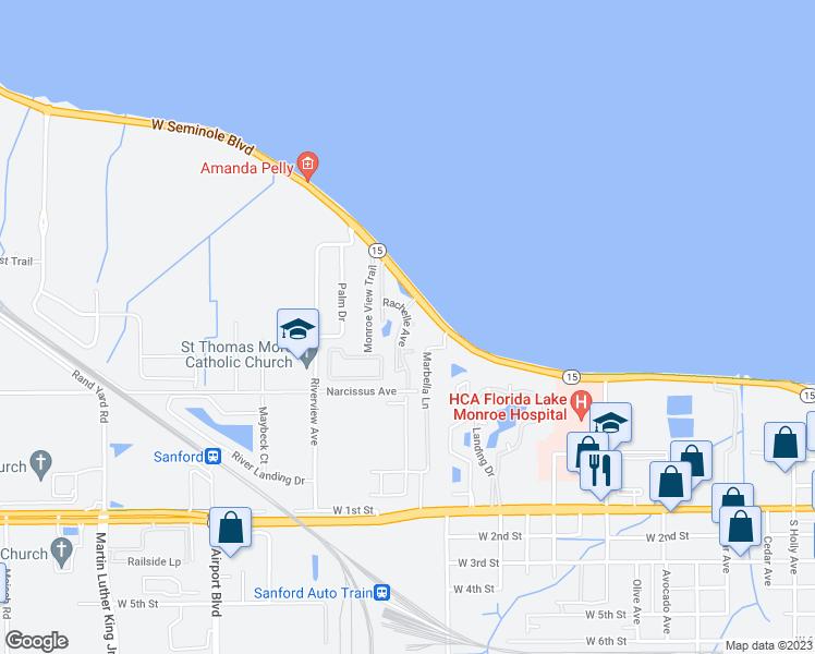 Sanford Florida Map.Rachelle Avenue Sanford Fl Walk Score