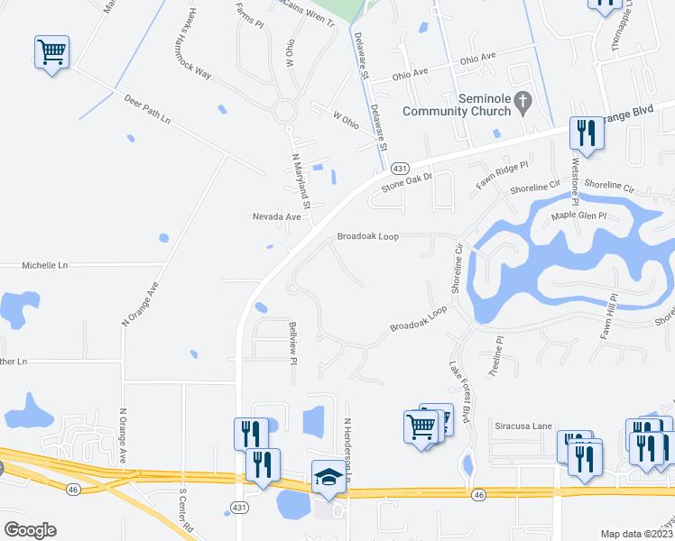 Sanford Florida Map.5582 Whispering Woods Point Sanford Fl Walk Score
