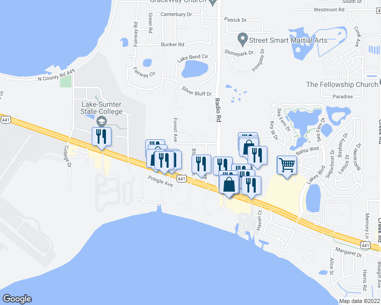 Map Of Leesburg Florida.32715 Blossom Lane Unit B Leesburg Fl Walk Score