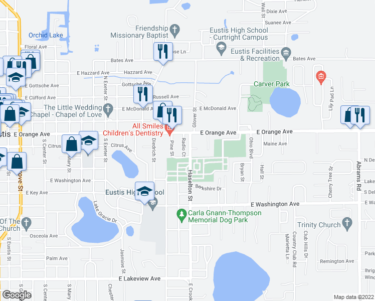 Eustis Florida Map.115 Radio Court Eustis Fl Walk Score