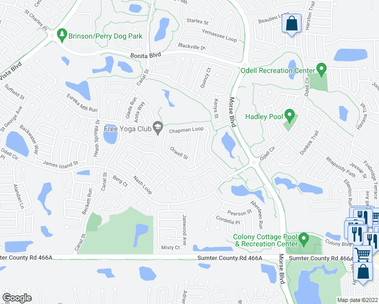 2483 dundee terrace the villages fl walk score for Terrace view map