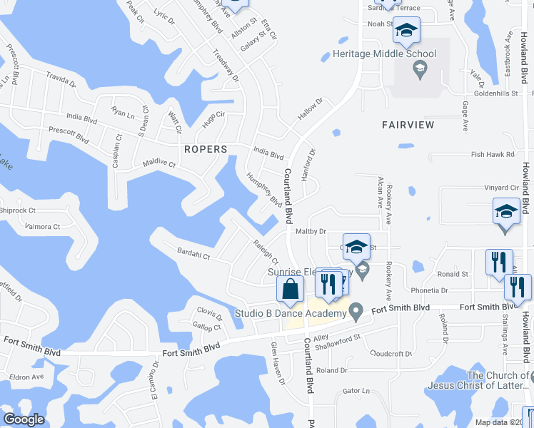 map of restaurants, bars, coffee shops, grocery stores, and more near 799 Weller Court in Deltona
