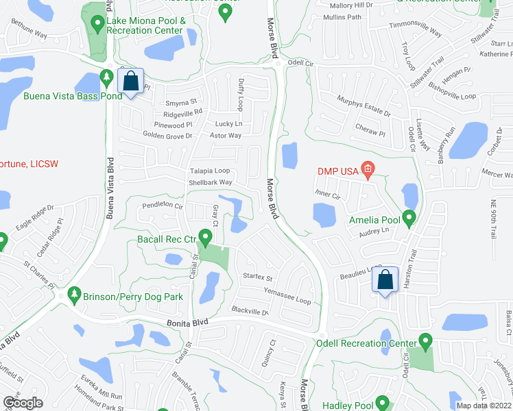 Map Of The Villages Florida.862 Shellbark Way The Villages Fl Walk Score