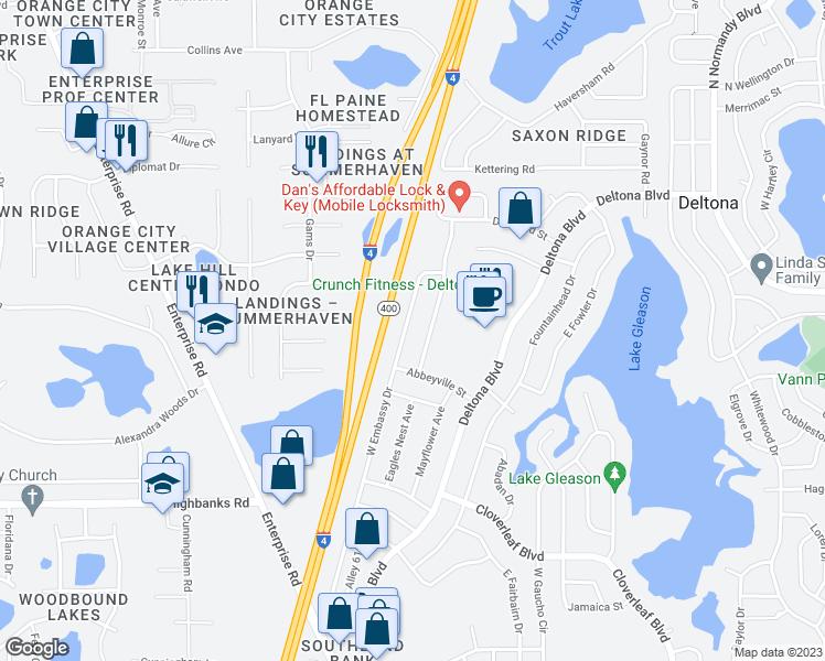 1201 West Embassy Drive, Deltona FL - Walk Score