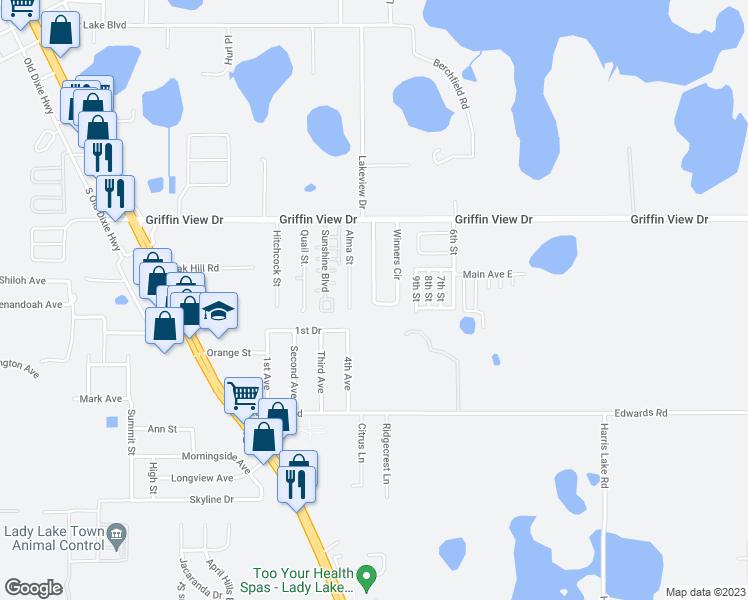 438 Winners Circle, Lady Lake FL - Walk Score