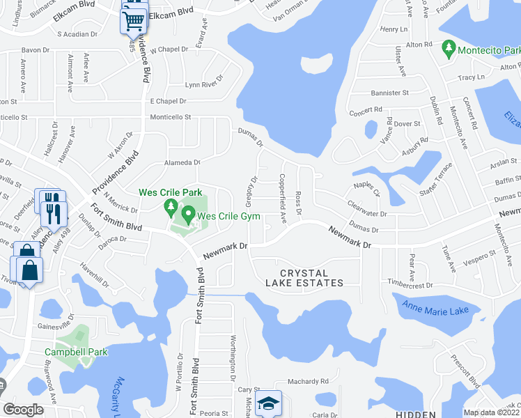 map of restaurants, bars, coffee shops, grocery stores, and more near 1535 Gregory Drive in Deltona