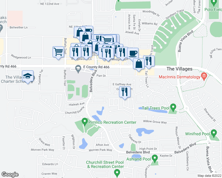 The Villages Florida Map.2410 Five Forks Trail The Villages Fl Walk Score