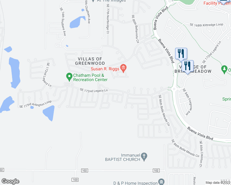 The Villages Florida Map.7821 Southeast 173rd Panorama Place The Villages Fl Walk Score