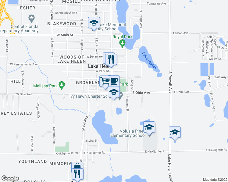 Lakeview Michigan Map.493 South Lakeview Drive Lake Helen Fl Walk Score