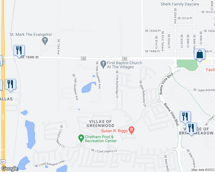 Clearview Florida Map.16985 Southeast 79th Clearview Avenue The Villages Fl Walk Score