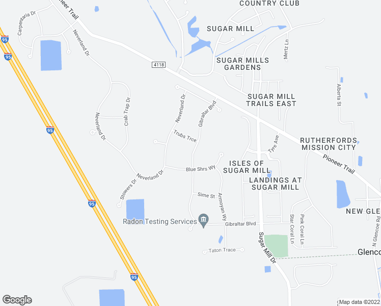 map of restaurants, bars, coffee shops, grocery stores, and more near 3018 Gibraltar Boulevard in New Smyrna Beach