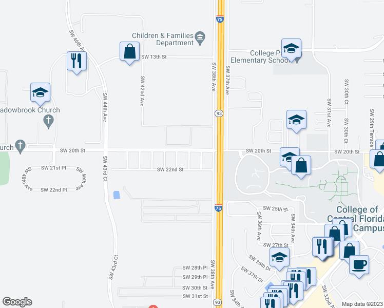 Ocala Florida Map.3890 Southwest 20th Street Ocala Fl Walk Score