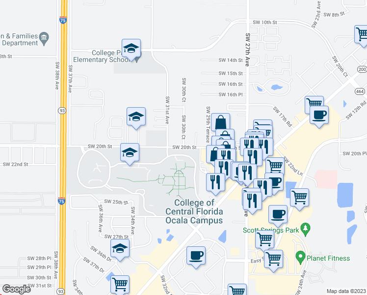 Ocala Florida Map.3012 Southwest 20th Street Ocala Fl Walk Score