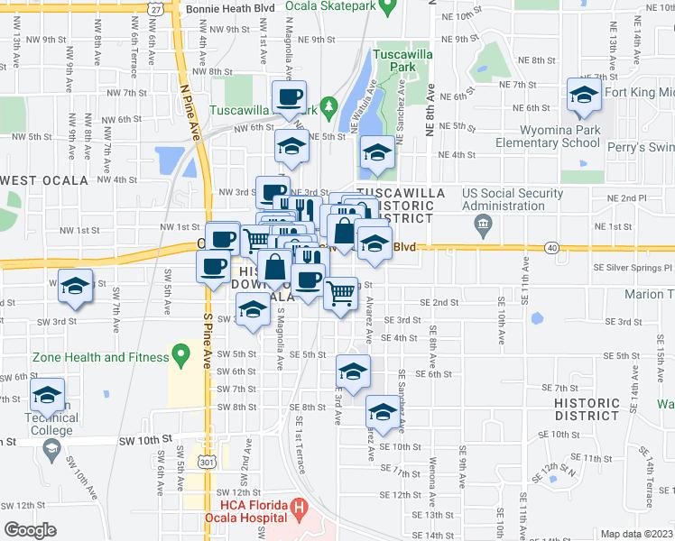Map Of Ocala Florida.302 Southeast Broadway Street Ocala Fl Walk Score