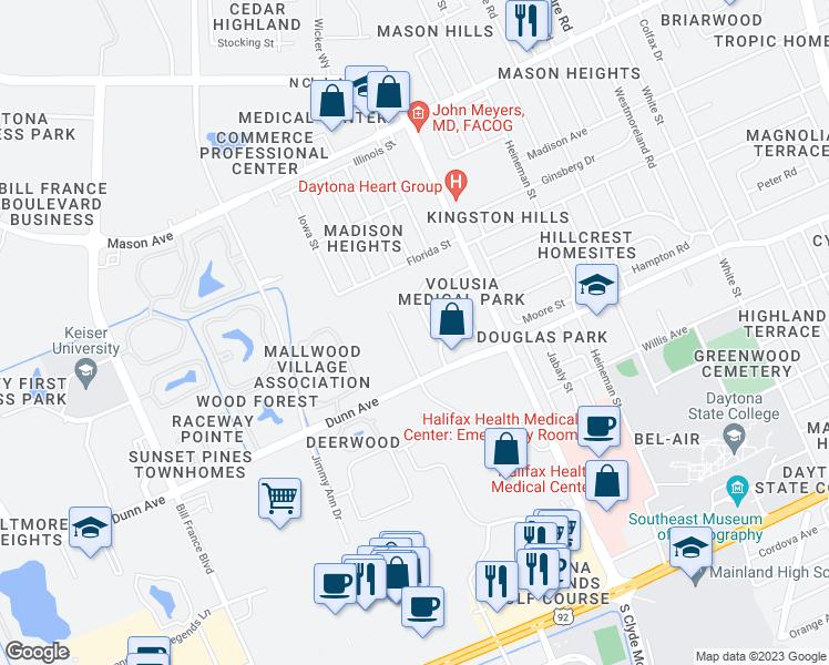Map Of Restaurants Bars Coffee S Grocery Ore Near 551