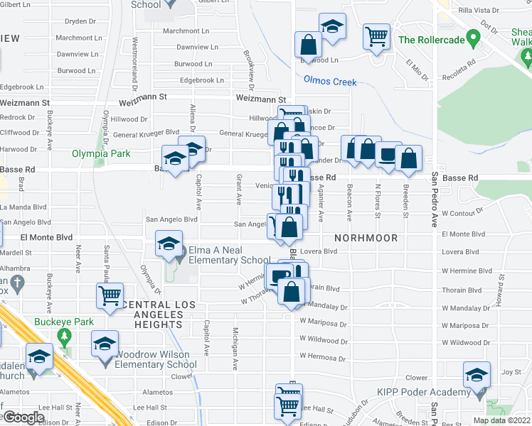 map of restaurants, bars, coffee shops, grocery stores, and more near 4303 Blanco Road in San Antonio