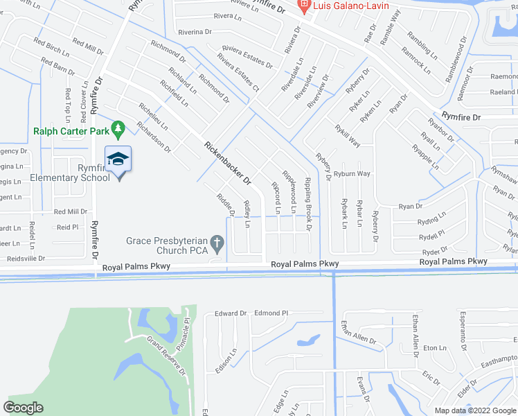 map of restaurants, bars, coffee shops, grocery stores, and more near 92 Rickenbacker Drive in Palm Coast