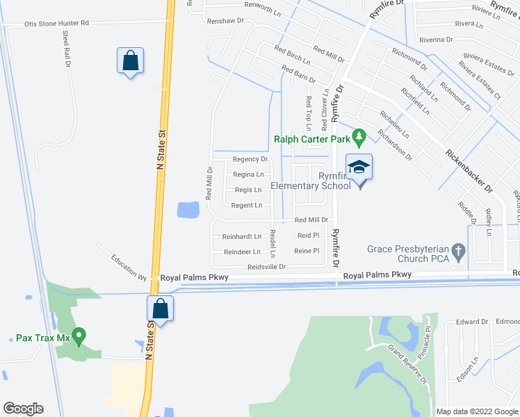 map of restaurants, bars, coffee shops, grocery stores, and more near 5 Regent Lane in Palm Coast