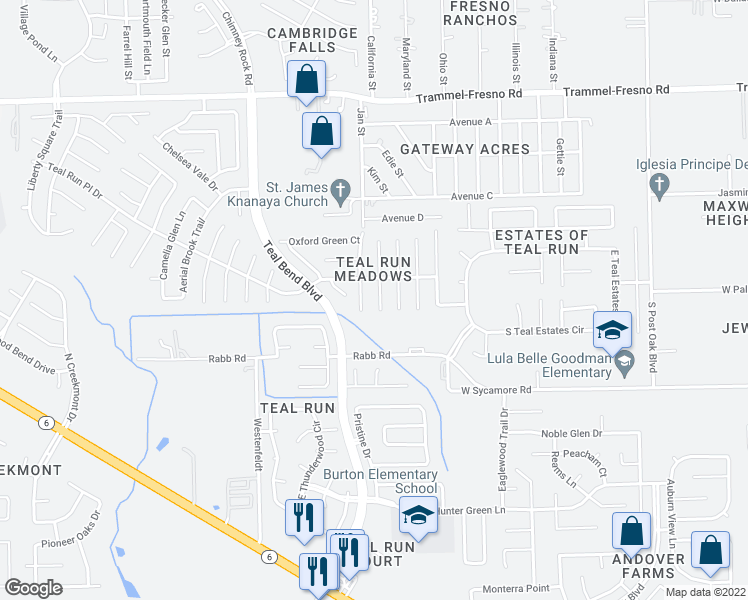 map of restaurants, bars, coffee shops, grocery stores, and more near 4039 Teal Run Place Court in Fresno