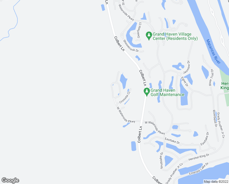 map of restaurants, bars, coffee shops, grocery stores, and more near 84 West Waterside Parkway in Palm Coast