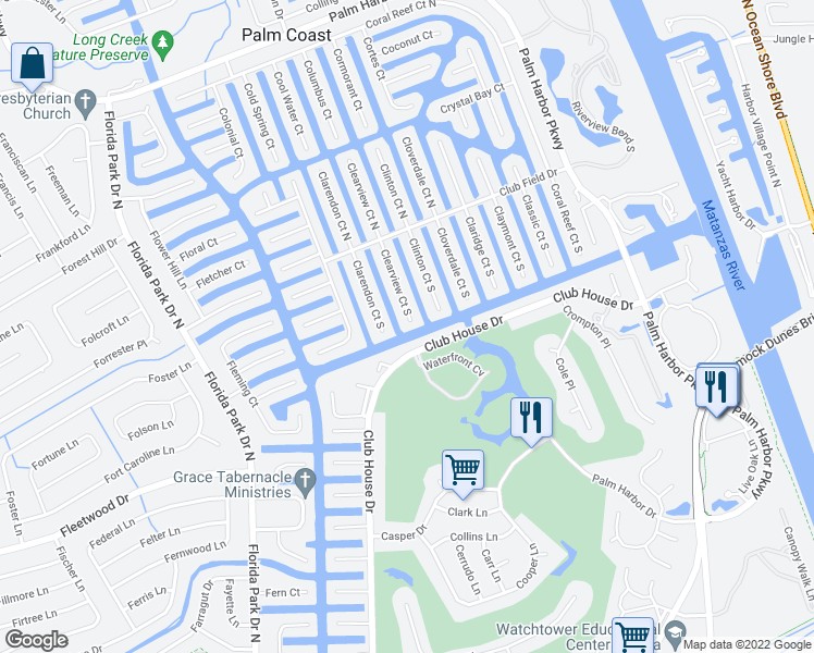 Clearview Florida Map.28 Clearview Court South Palm Coast Fl Walk Score