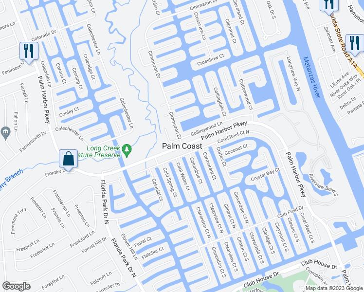 Map Of Palm Coast Florida.Palm Coast Fl Walk Score