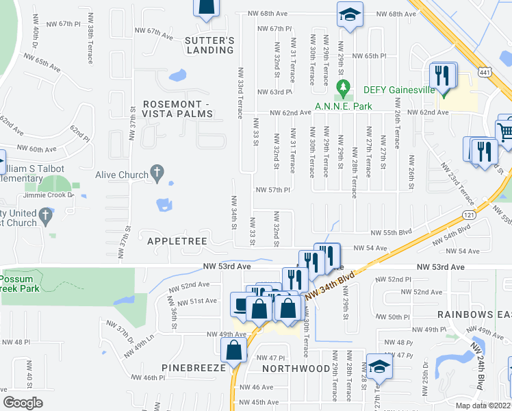 Restaurants Near  Nw Th Pl Gainesville