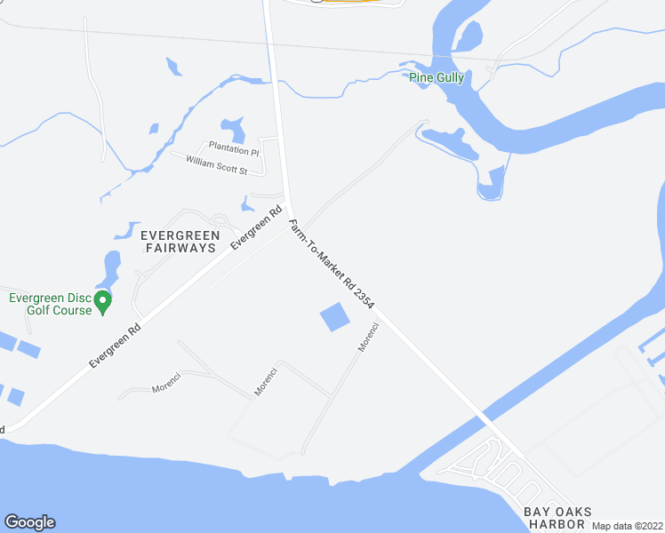 map of restaurants, bars, coffee shops, grocery stores, and more near Farm-To-Market Road 2354 in Baytown