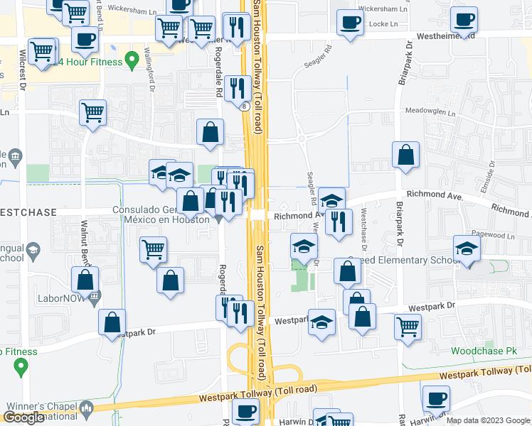 Texas 8 Beltway & Richmond Ave, Houston TX - Walk Score