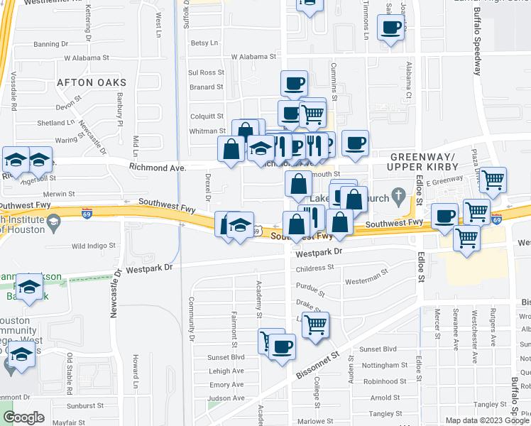 Restaurants Near  Southwest Freeway Houston Tx