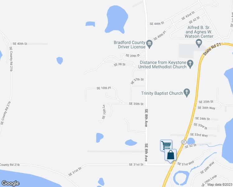 Melrose Florida Map.3632 Southeast 10th Place Melrose Fl Walk Score