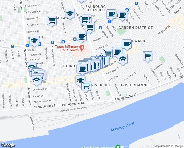 Magazine Street New Orleans Map.3458 Magazine Street New Orleans La Walk Score