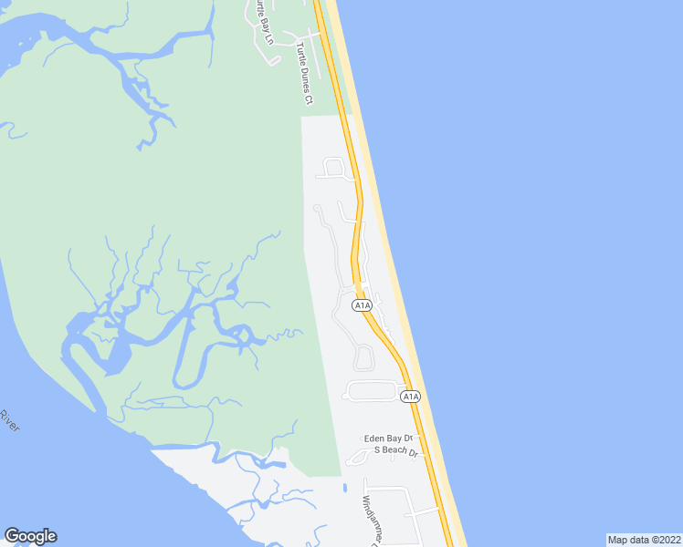map of restaurants, bars, coffee shops, grocery stores, and more near 415 South Ocean Grande Drive in Ponte Vedra