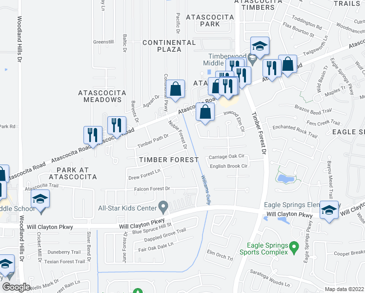 18239 Noble Forest Drive, Atascocita TX - Walk Score on city of atascocita tx, map of sheldon ia, map of 77346, map atascocita 1960, map of kingwood neighborhoods, map kingwood humble, map of texas parks, map hockley tx, map of southern states including texas, map of west texas, map kingwood atascocita,