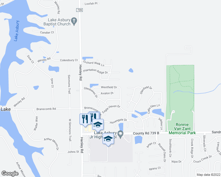 map of restaurants, bars, coffee shops, grocery stores, and more near 3389 Westfield Drive in Green Cove Springs
