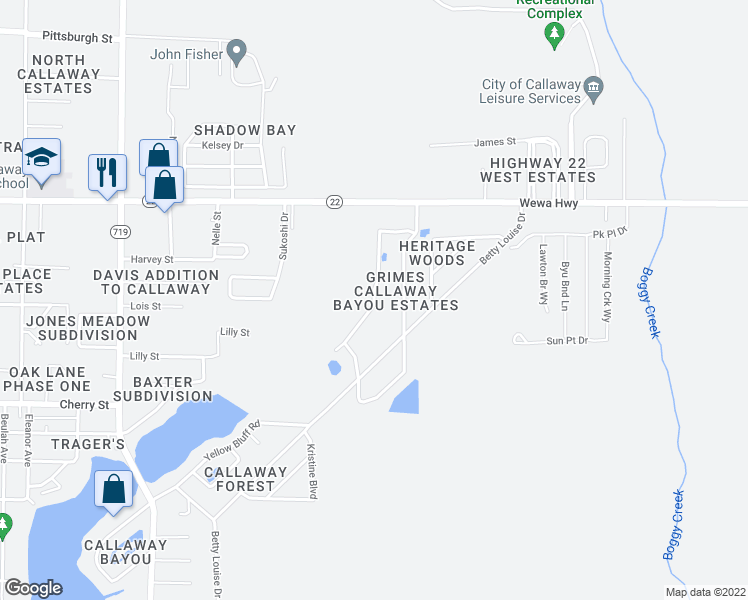 map of restaurants, bars, coffee shops, grocery stores, and more near Hugh Thomas Drive in Panama City