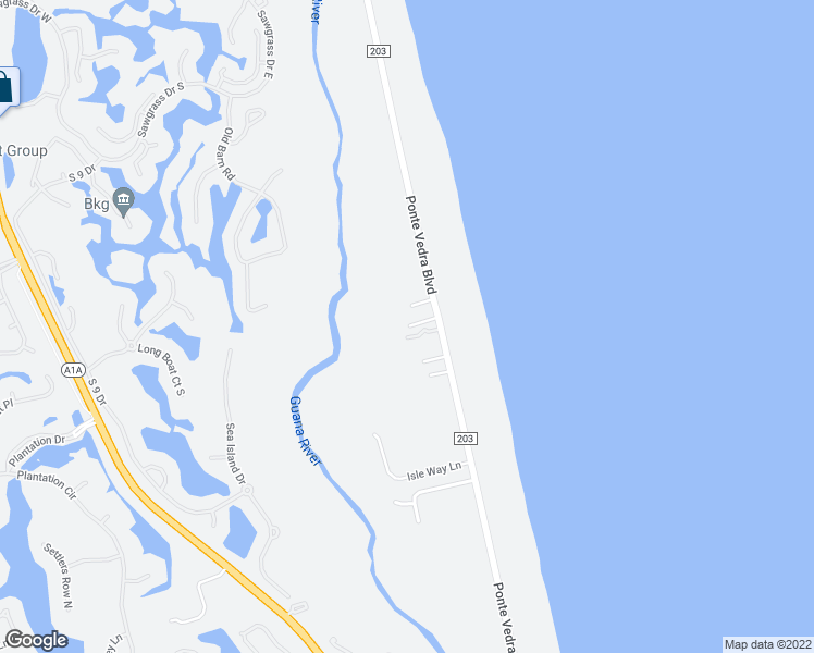 map of restaurants, bars, coffee shops, grocery stores, and more near 982 Ponte Vedra Boulevard in Ponte Vedra