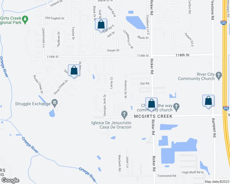 Map Of Jacksonville Georgia.7879 Georgia Jack Drive North Jacksonville Fl Walk Score