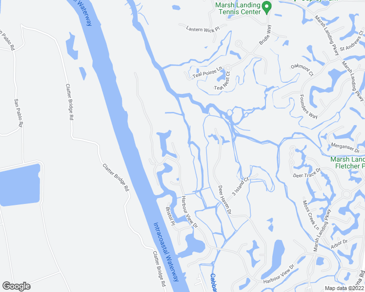 map of restaurants, bars, coffee shops, grocery stores, and more near 112 Newport Lane in Ponte Vedra Beach