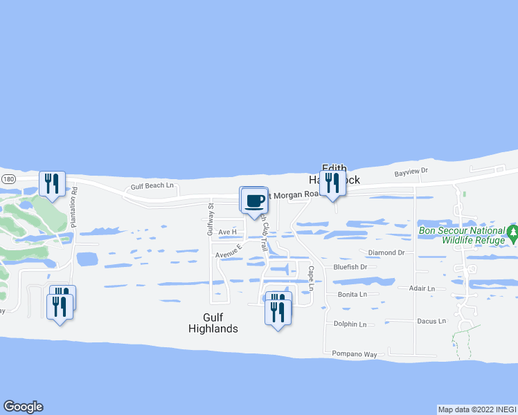 map of restaurants, bars, coffee shops, grocery stores, and more near 925 Beach Club Trail in Gulf Shores