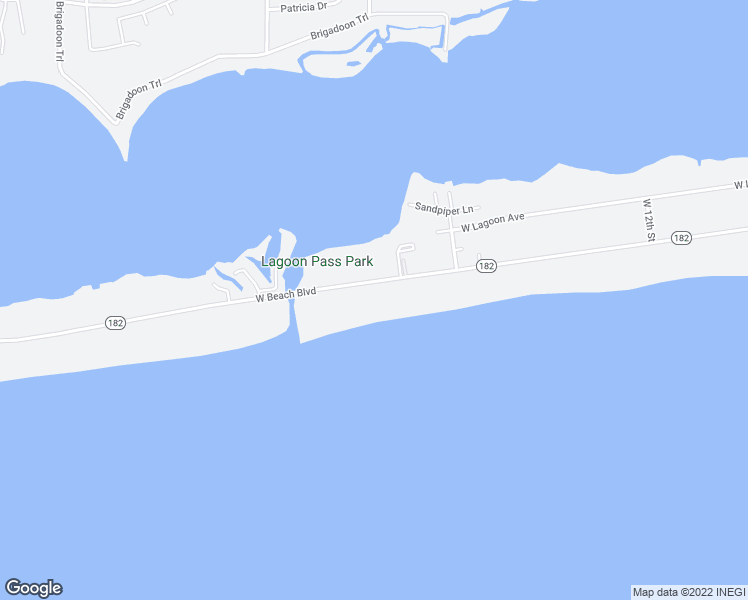 map of restaurants, bars, coffee shops, grocery stores, and more near 1587 West Beach Boulevard in Gulf Shores