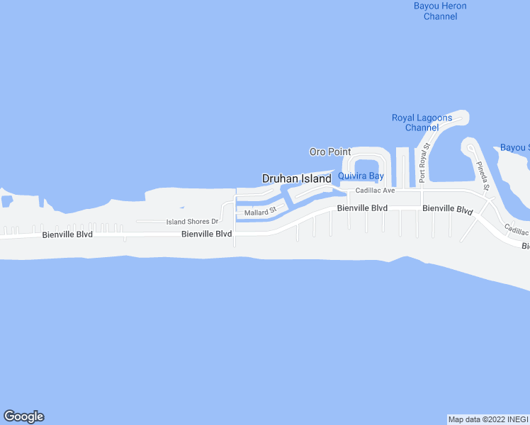 map of restaurants, bars, coffee shops, grocery stores, and more near 2238 Mallard Street in Dauphin Island