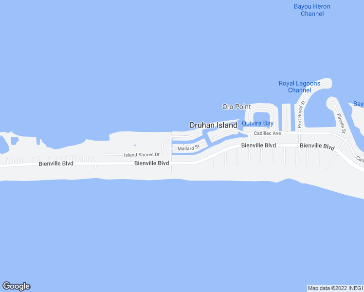 map of restaurants, bars, coffee shops, grocery stores, and more near 2246 Mallard Street in Dauphin Island