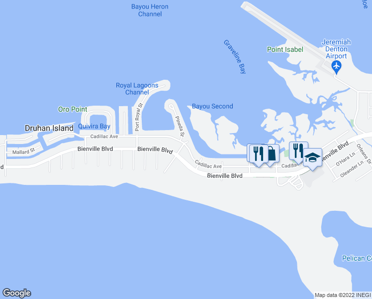 map of restaurants, bars, coffee shops, grocery stores, and more near 1915 Cadillac Avenue in Dauphin Island