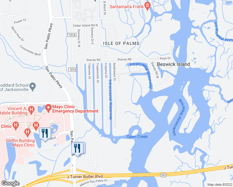 Map Of Jacksonville Florida.4321 Seabreeze Drive Jacksonville Fl Walk Score