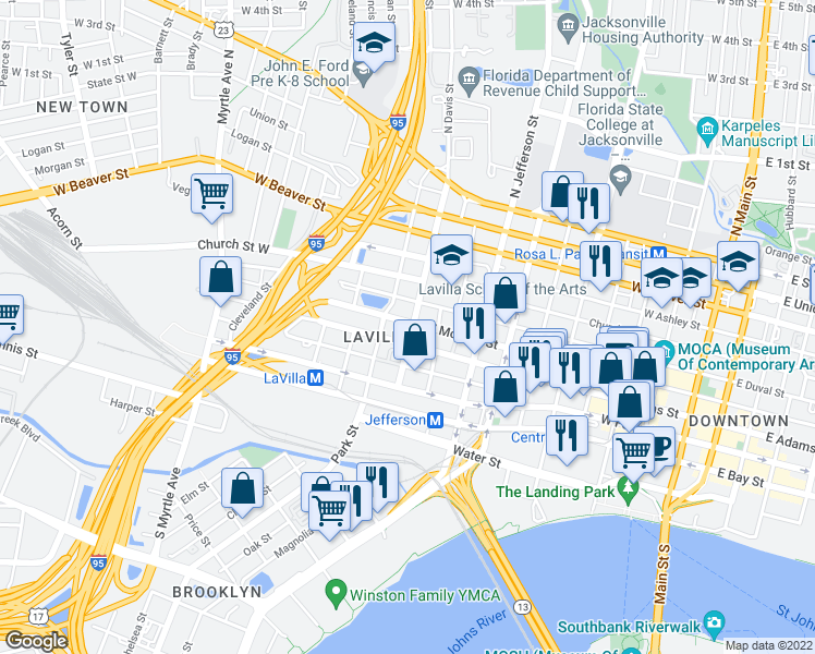 Map Of Jacksonville Florida.906 West Monroe Street Jacksonville Fl Walk Score